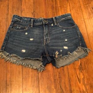 Free People denim cut off shorts